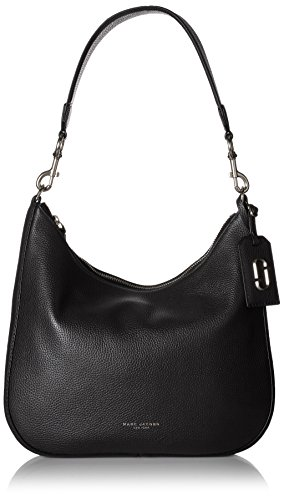 416Lfb57LbL Pebbled-leather hobo bag featuring piping trims and logo fob Removable top handle