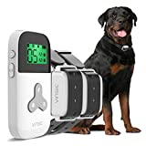 VINSIC Dog Shock Collars with Remote for 2 Dogs, 100% Waterproof Dog Training Collars with 300yd Range Remote Control, for Small Big Dog bark Collar with LCD Display