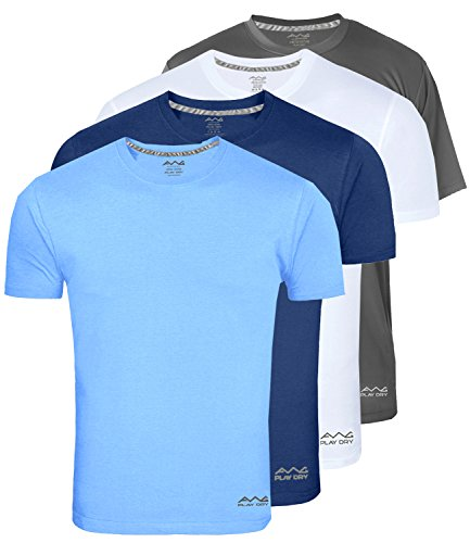AWG - All Weather Gear Men's Polyester Dry Fit Round Neck T-Shirt - Pack of 4 1  AWG – All Weather Gear Men's Polyester Dry Fit Round Neck T-Shirt – Pack of 4 416P7cqYZ9L