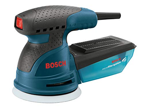 Bosch ROS20VSC Palm Sander - 2.5 Amp 5 in. Corded Variable Speed Random Orbital Sander/Polisher Kit with Dust Collector