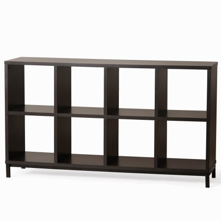 Better Homes and Gardens 8-Cube Organizer with Metal Base - Espresso, 57 1/2 wide,15 1/2 deep and 33 tall cubes are13x13 inches