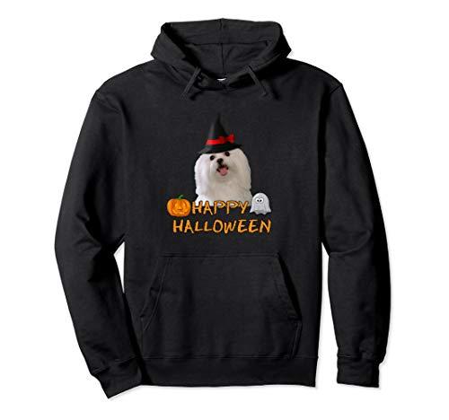 Halloween Maltese Dog Shirt Hoodie Pumpkin Ghost