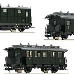 Fleischmann 481805 DRG Branch Line Coach Set 2 (3) II 416UFeeZELL