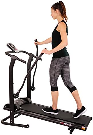 EFITMENT Adjustable Incline Magnetic Manual Treadmill w/Pulse Monitor 2