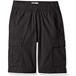 The Children's Place Boys Slim Size Pull-on Cargo Shorts, Washed Black, 10