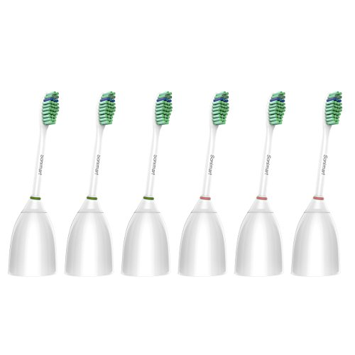 Sonimart Standard Training Heads, compatible with Sonicare e-Series HX7022, 6-pack, suitable for Sonicare Advance , CleanCare, Elite, Essence and Xtreme Sonicare Brush Handles