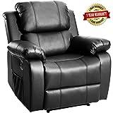Harper&Bright Designs Merax Power Massage Reclining Chair with Heat and Massage Heated Vibrating Massage Recliner