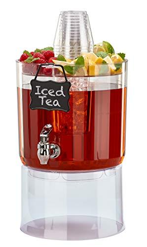 Buddeez-14401C-ONL-Party-Top-New-Beverage-Dispenser-175-gallon-Clear