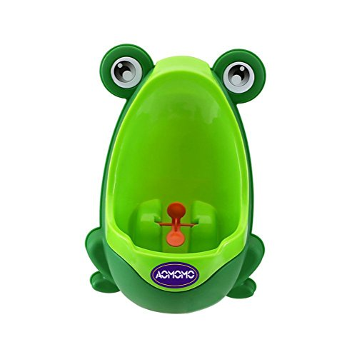AOMOMO®Lovely Frog Baby Toilet Training Children Potty Urinal Pee Trainer Urine For Boys with Funny Aiming Target (Green)