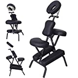 PU Leather Pad Portable Travel Massage Black Tattoo Spa Chair w/ Carrying Bag 3'