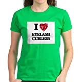 CafePress I Love Eyelash Curlers T Shirt Womens Cotton T-Shirt