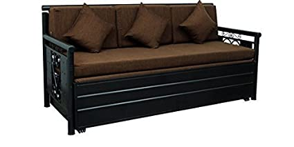 A1 Star Furniture Metal King Size 3 Seater Sofa Bed With Hydraulic Storage Brown And Black Texture Finish Amazon In Home Kitchen