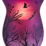Pavilion-Gift-Company-Purple-Halloween-Themed-Large-Glass-22-oz-Hurricane-Jar-Candle-Holder