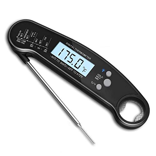 Digital Instant Read Meat Food Thermometer With Probe - Lgsixe BBQ Or Grilling, Waterproof, And Magnetic | Electric And Wireless | Quick, Smart Read For Grilling And Cooking Red Meat, Candy,Oven Roast