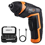 TACKLIFE Cordless Screwdriver, Electric Screwdriver, 4V MAX 2000mAh Li-ion with Battery Indicator, 31 Free Accessories, USB Rechargeable, Lightweight and Easy for Small Home Projects-SDP50DC