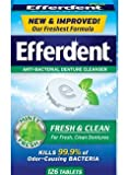Efferdent Plus Mint Anti-Bacterial Denture Cleanser Tablets 126 ea (Pack of 2)