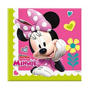 Disney Junior Minnie 53835 Disney Mickey & Friends Napkins, Pink 4170Q8USdoL