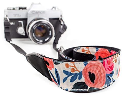 Camera Shoulder Strap Belt All DSLR Camera – Vibrant Design Universal DSLR Strap, Vintage Multi Color Neck Belt Canon, Nikon, Sony, Fujifilm Digital Camera
