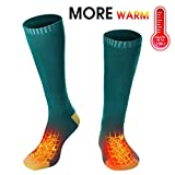 Men Women Electric Heated Socks Thermal Insulated Sock Battery Powered Heat Sox,Novelty Winter Sports Warm Volt Heat Socks Kit Climbing Hiking Plug in Foot Heater Warmer(Battery not Included)