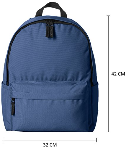 4176h185zvL - AmazonBasics 21 Ltrs Classic Fabric Backpack - Navy