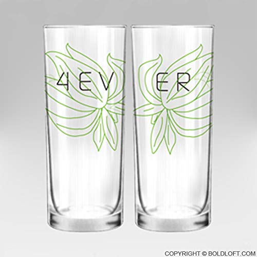 """BOLDLOFT""""Forever"""" His and Hers Drinking Glasses-Wedding Gifts,Wedding Gifts for the Couple,Wedding Gifts for Bride and Groom,His and Hers Gifts,Anniversary Gifts,His and Hers Gifts"""