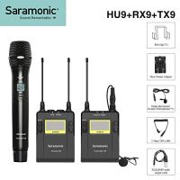 Saramonic 96-Channel UHF Wireless Lavalier Microphone System 1 Bodypack Transmitter, 1 Handheld Transmitter and 1…