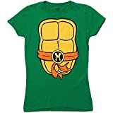 Teenage Mutant Ninja Turtles TMNT Michelangelo Costume Juniors T-Shirt (Large) by Mad Engine