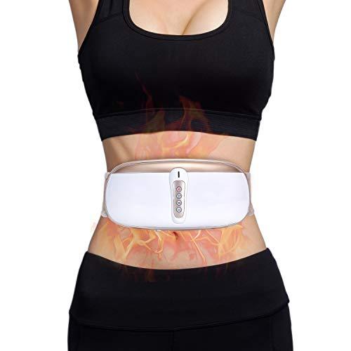 OWAYS Slimming Belt, Adjustable Vibration Massage with Mild Heat, 4 Massage Modes for Weight Loss, Skin Firming, Belly Fat Burner for Women & Men, Improve Blood Circulation