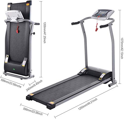 Aceshin Electric Folding Treadmill Power Motorized Walking Jogging Running Machine Cardio Fitness Exercise Equipment Space Saving for Home Gym Easy Assembly 6