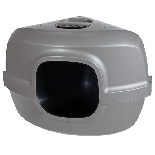 Petmate 42102 Hooded Corner Litter Pan