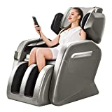KTN Massage Chairs, Zero Gravity Massage Chair, Full Body Massage Chair with Lower-Back Heating, Seat Vibration and Foot Roller (Coffee)