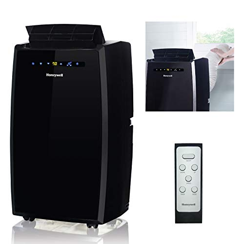 Honeywell MN10CESBB 10000 BTU Portable Air Conditioner, Dehumidifier & Fan for Rooms Up To 350-450 Sq. Ft. with Thermal Overload Protection, Washable Air Filter & Remote Control