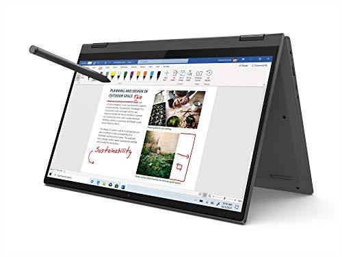 Lenovo IdeaPad Flex 5i 11th Gen Intel Core i3 14-inch FHD IPS 2-in-1 Touchscreen Laptop (8GB/512GB SSD/Win 10/Office 2019/Lenovo Digital Pen Stylus/Fingerprint Reader/Graphite Grey/1.5Kg), 82HS009GIN