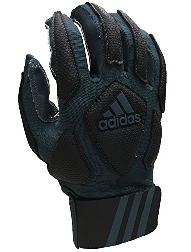 adidas Scorch Destroyer Full Finger Lineman's Gloves, Gray/Black, Large