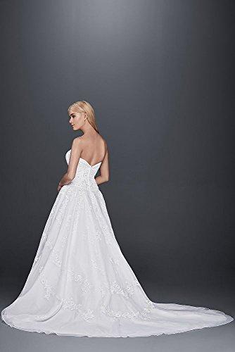 David\'s Bridal Strapless Lace Drop Waist Ball Gown Wedding Dress ...