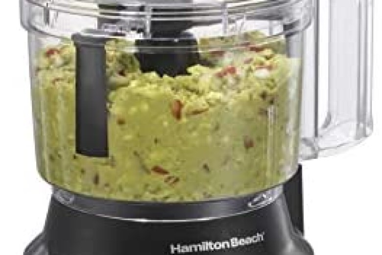 Hamilton Beach Food Processor & Vegetable Chopper for Slicing, Shredding, Mincing, and Puree, 10 Cups – Bowl Scraper, Stainless Steel