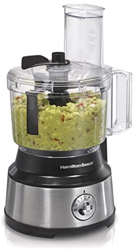 Hamilton Beach 10-Cup Food Processor & Vegetable Chopper with Bowl Scraper, Stainless Steel (70730)