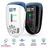 UPGRADED Ultrasonic Pest Repeller Wall Plug-in - Most Effective 2019 Electromagnetic & Ionic Indoor Anti Mouse, Ant, Mosquito, Cockroach Control - Safe Device, Night Light - 4000 Sq. Ft (2-Pack)