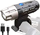 Night Provision Ultra Bright BX-550 USB Rechargeable Bike Light with Removable Battery - Front Bicycle Headlight - Easy Install Quick Release Bicycle LED Lights