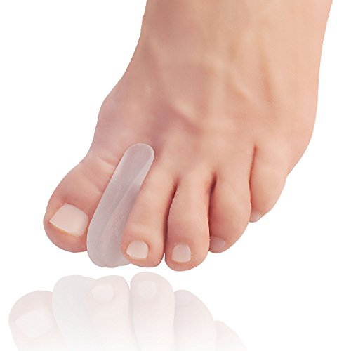 Dr. Frederick's Original Flared Gel Toe Separators - 6 Pieces - Toe Spacers - Temporary Bunion Corrector - Bunion Relief - Flared design Stays in Place