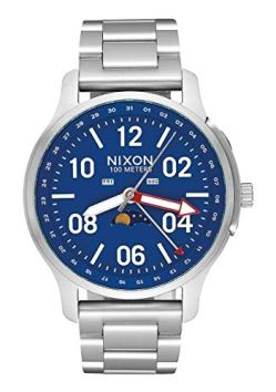 Nixon Men's Ascender Japanese-Quartz Watch with Stainless-Steel Strap, Silver, 21 (Model: A1208722)