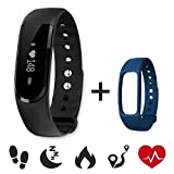 Heart Rate Fitness Tracker,CAMTOA ID101HR Wireless Fitness Monitor,Smart Bracelet,BT 4.0 Heart Rate Monitor-Waterproof IP67,Sleep Monitor,Notification Alerts Wristband for Android iOS Phones