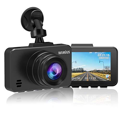 Dual Dash Cam - WiMiUS Dash Camera 1080P DVR Dashboard Recorder Full FHD Car Camera 170 Wide Angle with Sony Sensor & WDR Infrared Night Vision, G-Sensor (D10 Dash Cam)