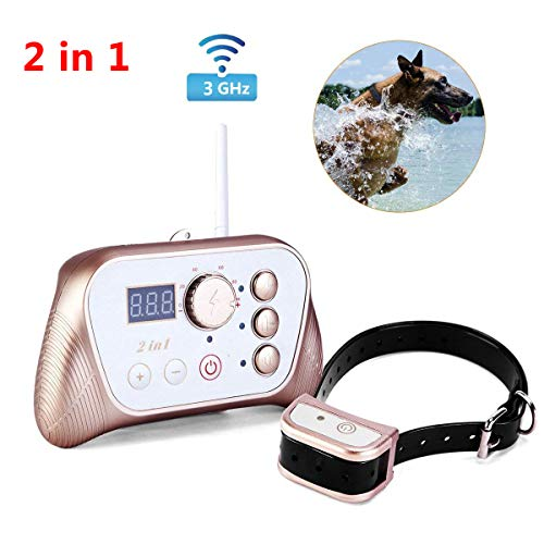 Wireless Dog Fence Training Collar 2-in-1 System, Stable Signal Wireless Pet...