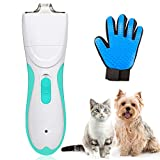 Pet Grooming Clipper Washable Pet Clippers USB Rechargeable Low Noise Electric Pet Trimmer with Detachable Micro-serrated Ceramic Blade For Dogs and Cats, Eyes, Face, Ears, Paw, Around Rump
