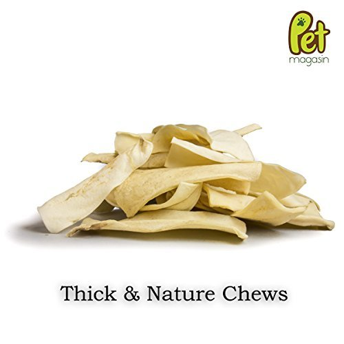 Pet Magasin Natural Rawhide Chips - Premium Long-Lasting Dog Treats with Thick Cut Beef Hides, Processed Without Additives Or Chemicals 4