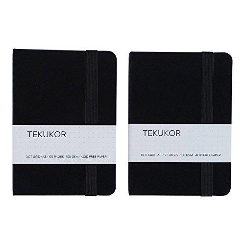Tekukor A6 Notebook Hardcover Dot Grid – 2 pack