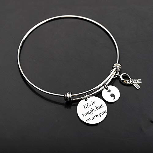 Gzrlyf Life is Robust however so are You Bracelet Semicolon Psychological Well being Consciousness Jewellery Surgical procedure Restoration Items (Bracelet) deal 50% off 417o8P4fnUL