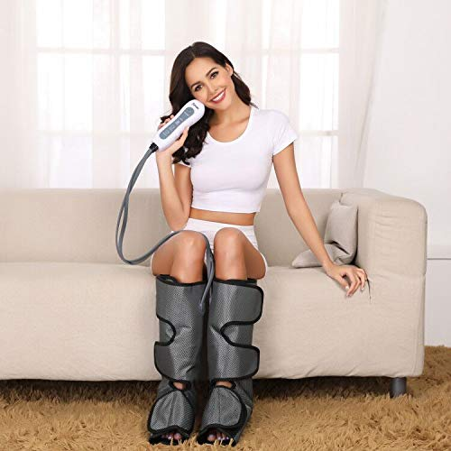 Leg Massager Air Compression- Upgrade Leg Compression Wraps for Foot and Calf Circulation for Pain...