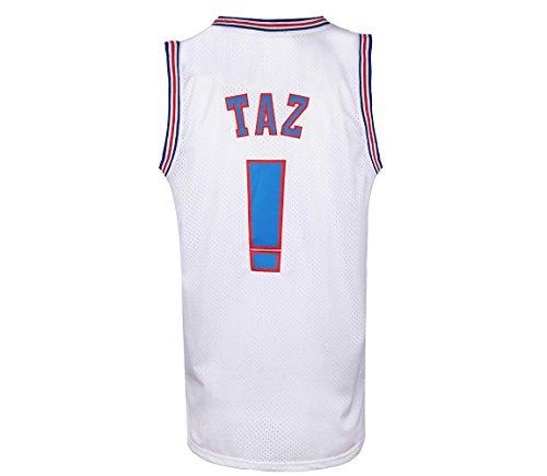 JOLI SPORT Taz !# Bunny Space Jam Movie Jersey Mens Basketball Jersey S-XXXL White (Medium)